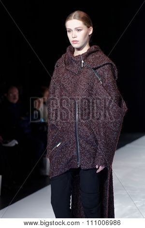 ST. PETERSBURG, RUSSIA - DECEMBER 5, 2015: Collection of fashion house Harlen at the fashion show during St. Petersburg Fashion Week Overview which sums up the year of the city'??s fashion industry