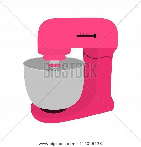 Pink Kitchen Mixer With Bowl