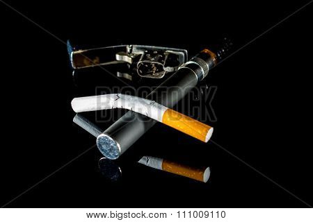 Electronic Cigarette And Lighter