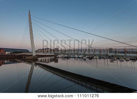 Sail bridge Swansea