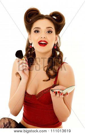 Woman With Powder Box.