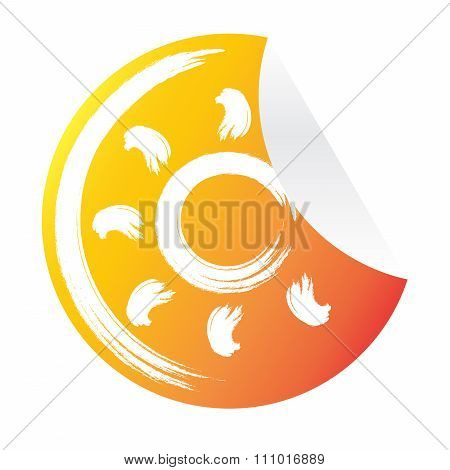 abstract sun icon sticker travel background vector illustration