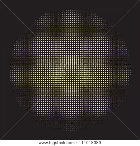 halftone gold doted circle