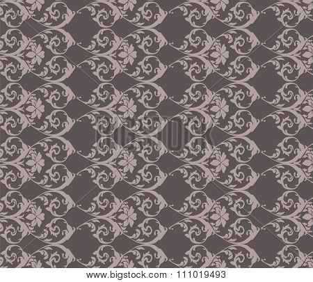 Classic gray vintage acanthus pattern