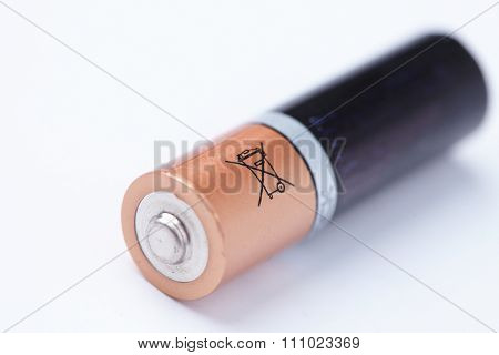 AA battery isolated on white background