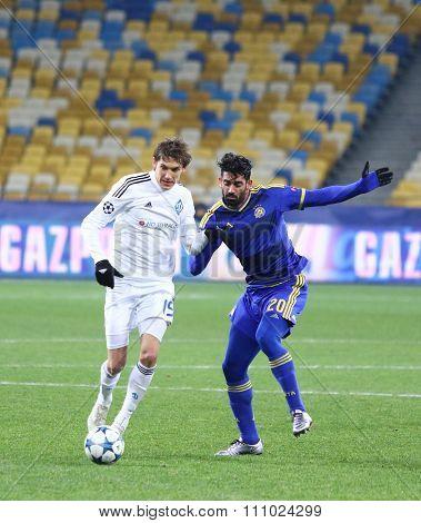 Uefa Champions League Game Fc Dynamo Kyiv Vs Maccabi Tel-aviv