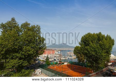 Tennis Courts Of Circolo Canottieri Napoli Club In Naples, Italy