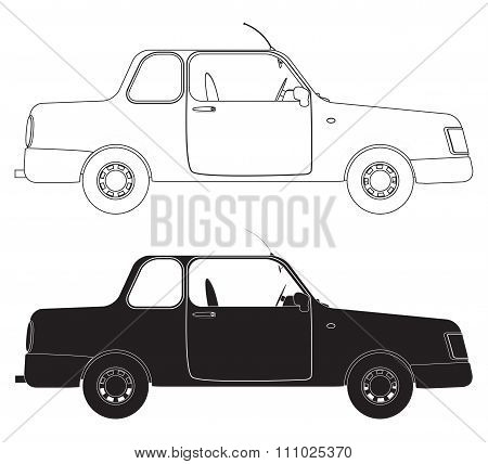 Saloon Car Outlines
