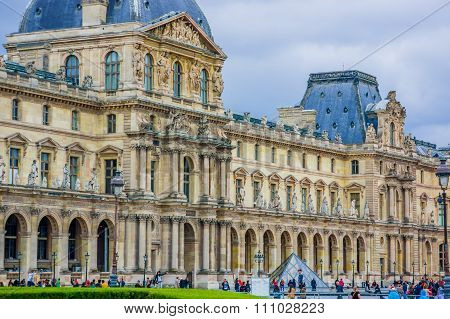 Louvre Museum exterior in Paris, France