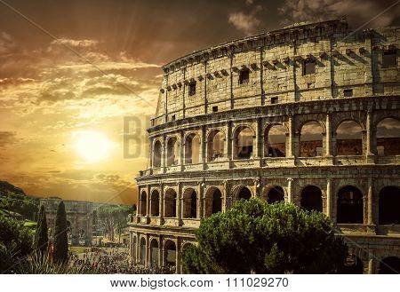 One of the most popular travel place in world - Roman Coliseum.