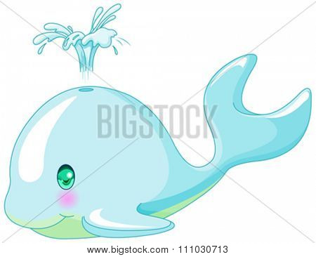 Illustration of very cute whale