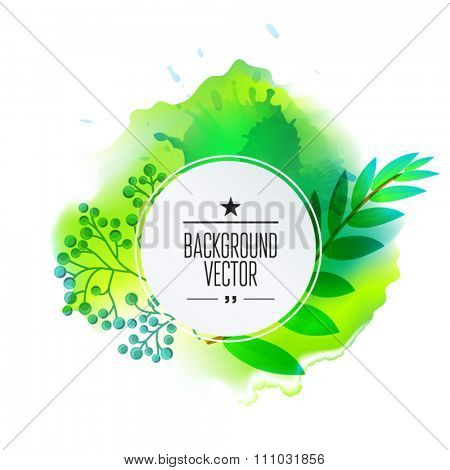 Vector floral tropical pattern background with jungle leaves. Abstract stripped geometric texture