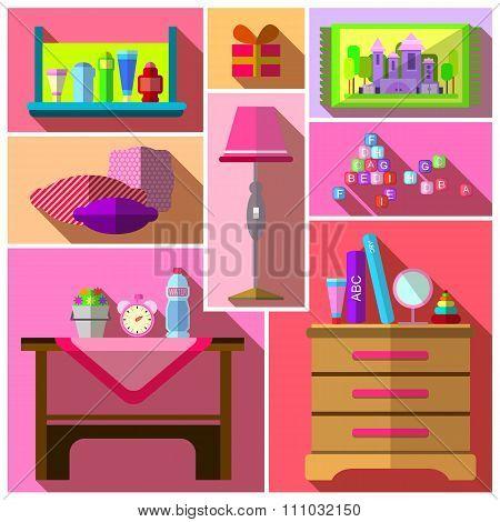 Girls bedroom furniture sets.