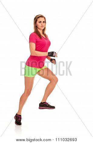 adult Runner woman full length