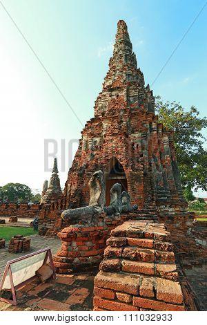 Wat Chaiwatthanaram the temple in Thailand