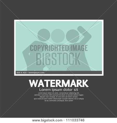 Watermark Sign On Photo.