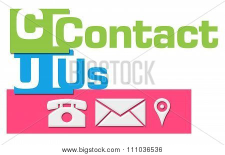 Contact Us Abstract Colorful Stripes