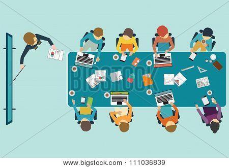 Business Presentation Conceptual Vector Illustration.