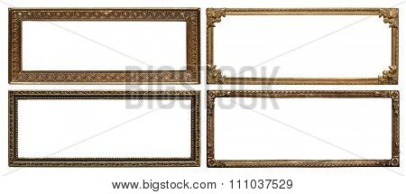Ornate vintage aged metal frames