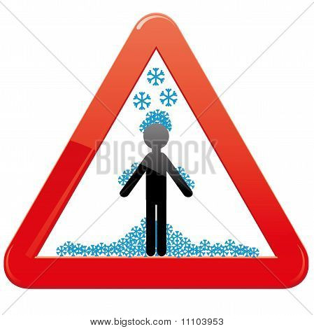 Snow caution