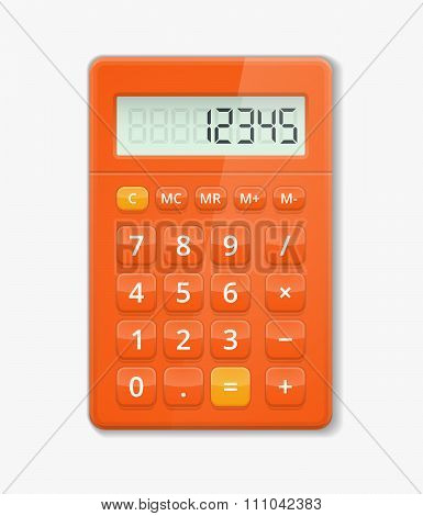 Vector realistic calculator