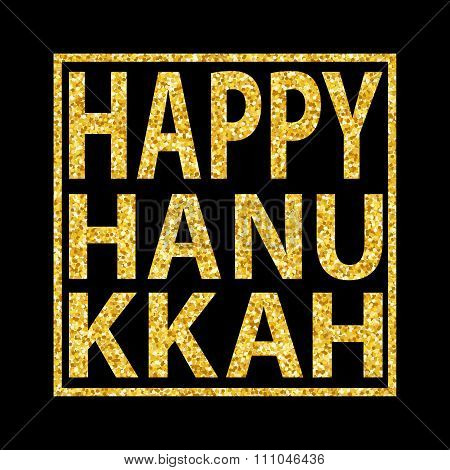 Hanukkah Quote Golden Glitter Background 1