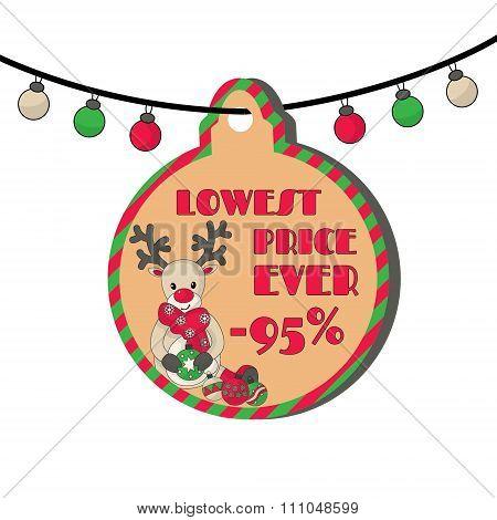 95_sale_reindeer With Christmas Balls