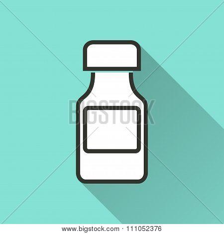 Medicine Bottle Icon.