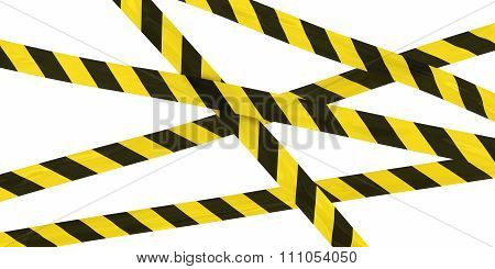 Yellow And Black Striped Hazard Tape Background