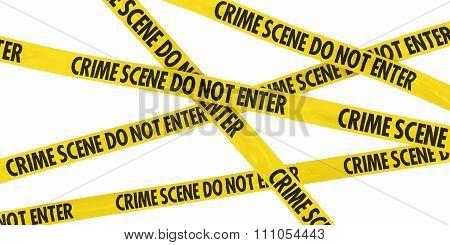 Crime Scene Do Not Enter Barrier Tape Background