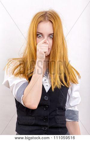 Girl Show Pig Snout
