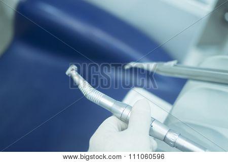 Dental Instrumenation Dentist Drill Cleaning Tool In Clinic