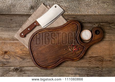 Chopping Cutting Board, Seasonings And Meat Cleave