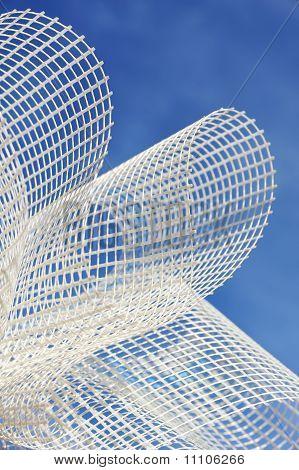 Detail of glass-fiber mesh in hand