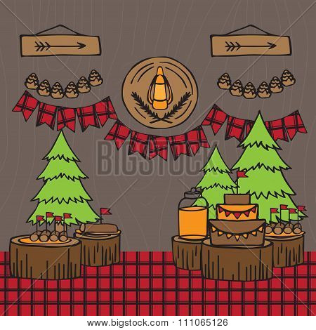 Rustic Woodsy Outdoor Lumberjack Party Ideas