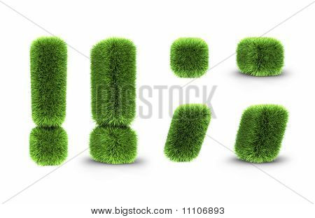 Grass Interjection, Dot, Comma