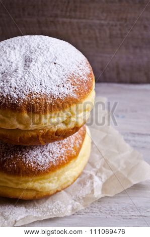 Donut In Powdered Sugar