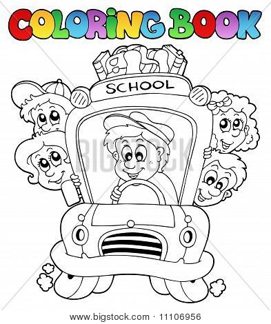 Coloring Book With School Images