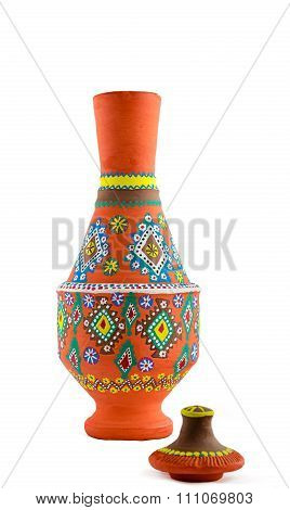 Egyptian painted pottery Vessel