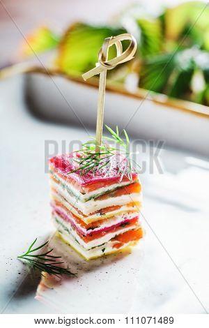 vegetarian canape