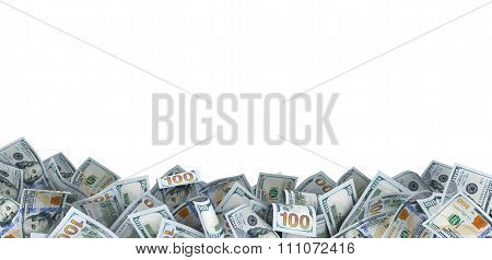 Lot Of 100 Dollar Bills With A Place For Your Text