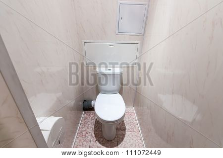 Bathroom With Toilet In Hostel