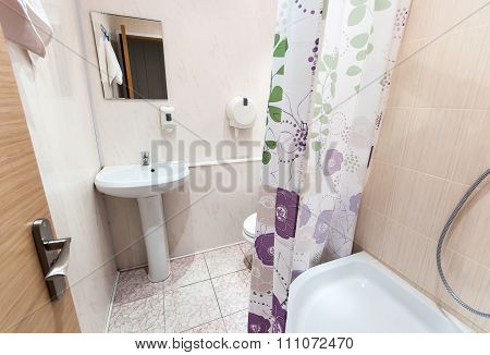Bathroom With Sink Toilet And Shower Tray