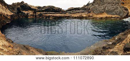 Natural Pool On Lava Rocks