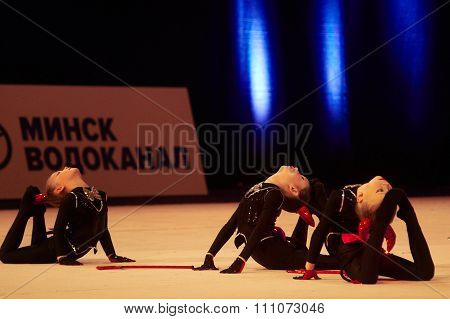 Minsk, Belarus December 05: Unidentified Gymnast From ' Usit' Participate With 'damn Cho