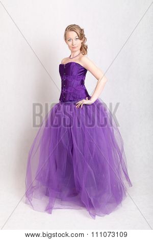 Girl In A Purple Evening Gown