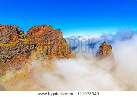 Madeira Volcanic Mountain Landscape