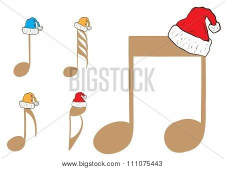 Clipart with Christmas notes