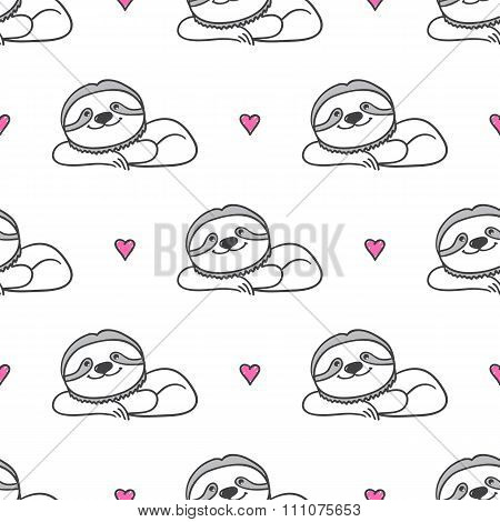 hand drawn sloths
