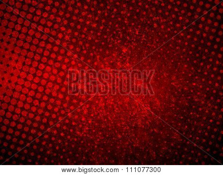 grunge red paint with half tone background